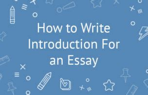 How to write an a level essay introduction